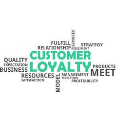word cloud - customer loyalty vector image vector image