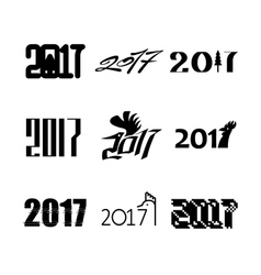 New year text vector