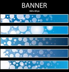 Blue ellipse banner vector