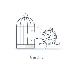 Time management and freelance work concept vector