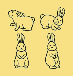 Rabbit line art vector