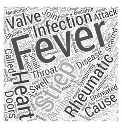 Rheumatic fever and heart disease word cloud vector