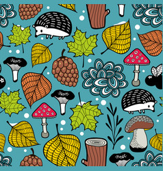 seamless pattern of winter coming vector image