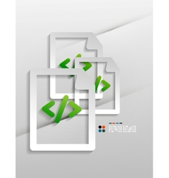 File program paper design vector