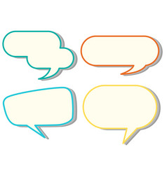 speech bubble templates in four colors vector image