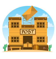 Wild west post office game background vector