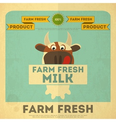 Cow milk poster vector