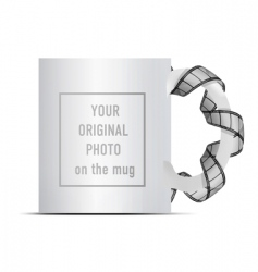 Photo on mug vector