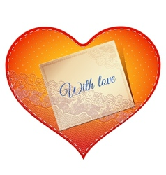 lace heart card vector image