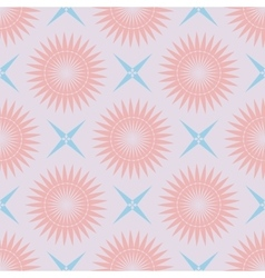 Geometric seamless pattern pastel palette vector