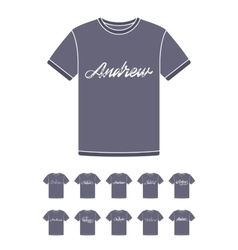 T-Shirt design with the personal name Andrew vector image