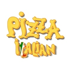 Italian pizza background vector