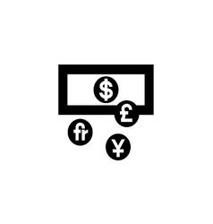 Currency exchange symbol vector