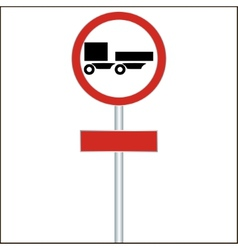 A ban on driving road sign for truck vector