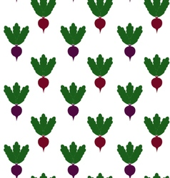 Beet pattern seamless texture with ripe beetroot vector