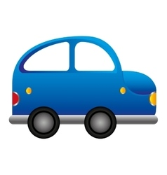 Car vehicle beetle isolated icon vector