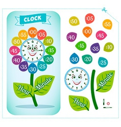 Clock sticker game for children vector