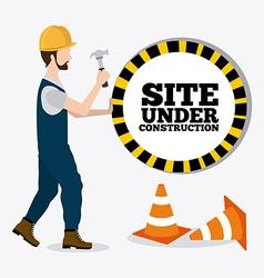 Construction digital design vector