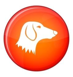 Dachshund dog icon flat style vector