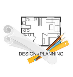 design and planning architecture symbol vector image vector image