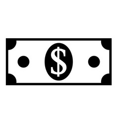 dollar icon on white vector image vector image