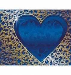 heart gold frame vector image