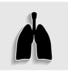 Human organs sticker style icon vector