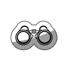 Isolated binocular object design vector