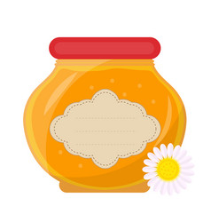 Jar of honey icon flat style isolated on white vector