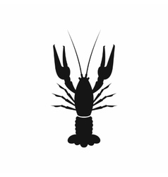 Lobster icon simple style vector