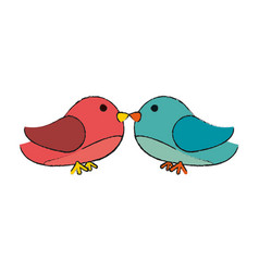 Lovebirds heart icon image vector