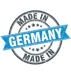 Made in germany blue round vintage stamp vector