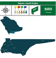 map of najran saudi arabia vector image