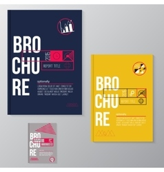 modern brochure minimal cover design vector image vector image