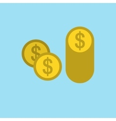 Money Penny Icon Flat vector image