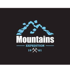mountain icon design vector image vector image