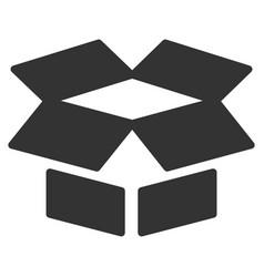 open box flat icon vector image