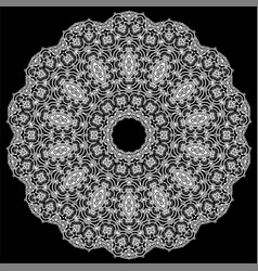 ornamental line pattern decorative texture vector image