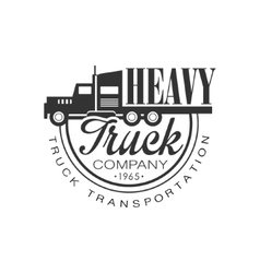 Premium heavy trucks company club logo black and vector