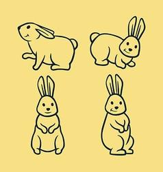 Rabbit line art vector