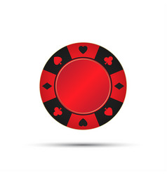 red casino chip isolated on white background vector image