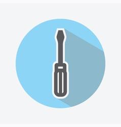 Screwdriver Color Icon vector image vector image