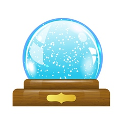 Snow globe vector image vector image