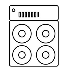 speaker box icon outline style vector image vector image