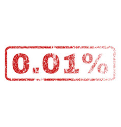 001 percent rubber stamp vector