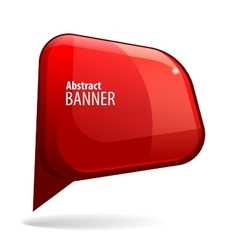 Shiny gloss red 3d banner vector