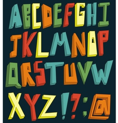 Colorful 3d alphabet vector