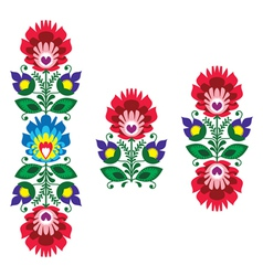 Folk embroidery - floral traditional pattern vector