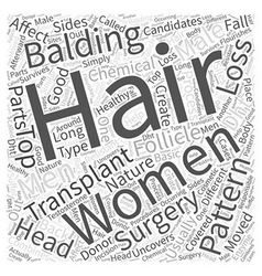 Are women good candidates for hair transplant vector