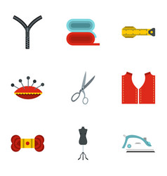 Tools and accessories for tailoring icons set vector